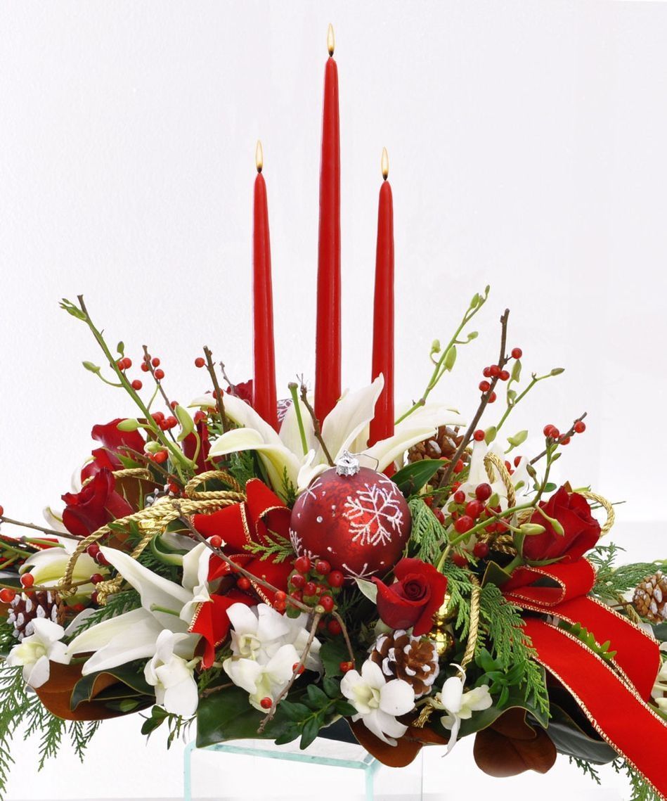 Christmas Centerpiece Flowers : Hanukkah florist long beach allen s flower market